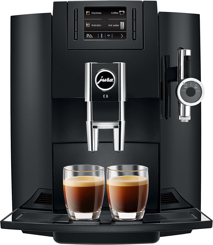 Jura 15109 Automatic Coffee Machine E8, Black