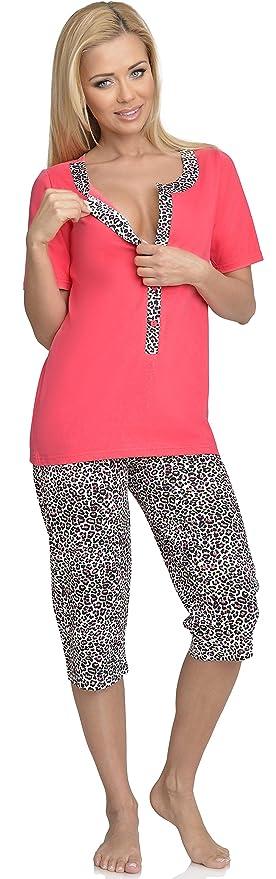 Be Mammy Mujer Lactancia Pijamas Dos Piezas H2L2N2: Amazon.es: Ropa y accesorios