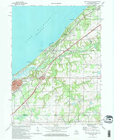 New Buffalo Michigan Map.Amazon Com Yellowmaps New Buffalo East Mi Topo Map 1 24000 Scale