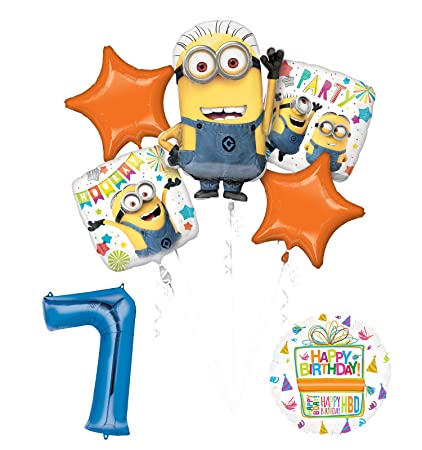 Amazon Despicable Me 3 Minions 7th Birthday Party Supplies And