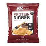 Optimum Nutrition High Protein Ridges, Baked Chips, Savory Snack to Go, Gluten Free, Soy Free, Flavor: BBQ, 10 Count