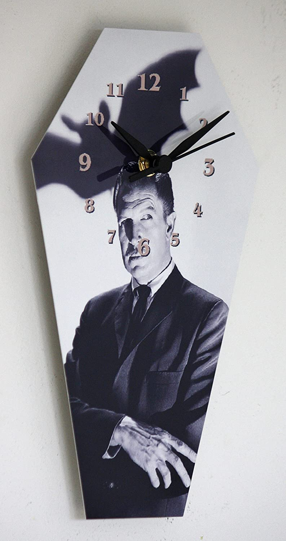 25.5cm High Weird but Different Vincent Price DIY Coffin Wall Clock Kit