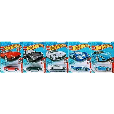 Hot Wheels 2020 Complete Porsche 5 Car Bundle Set Version 1 Includes 917 LH Panamera SE Hybrid Carrera 944 Turbo 918 Spyder: Toys & Games