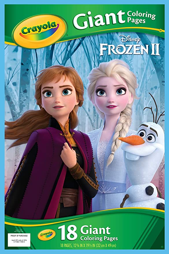 Amazon Com Crayola Frozen Giant Coloring Pages Toys Games