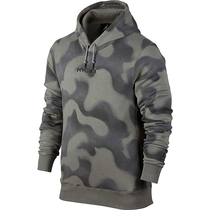 Sudadera capucha Jordan – Sportswear P51 Flight Fleece Pullover verde/gris talla: L (