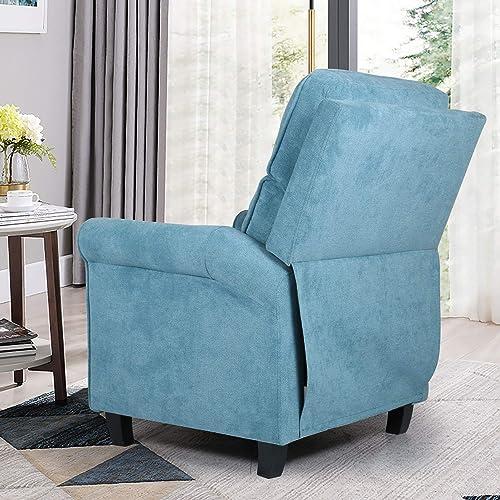 Push Back Recliner Chair Single Reclining Sofa Fabric Sofa Chair