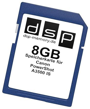DSP - Tarjeta de memoria para Canon PowerShot A3500 IS 8 GB ...