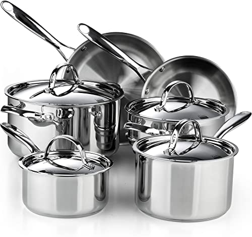 Cooks Standard Classic Stainless Steel Cookware Set, 10- Pieces