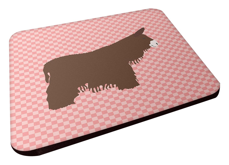 Carolines Treasures BB7852FC Poitou Poiteuin Donkey Pink Check Decorative Coasters 3.5 Multicolor