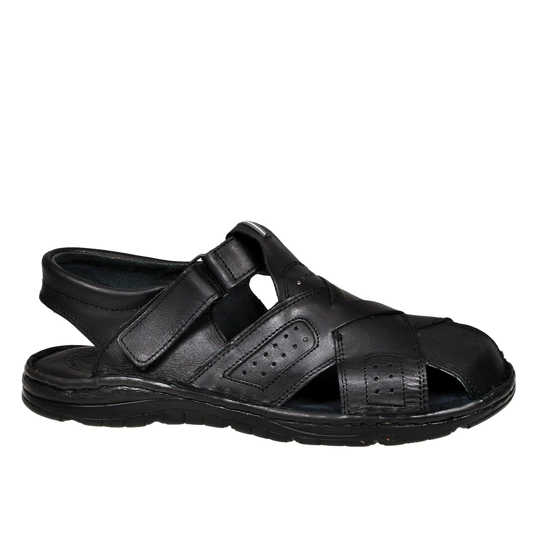 Chaussures Confortables Une Forme Orthopedique des Sandales en Cuir Naturel De Bison pour Homme 867