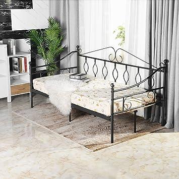 Aingoo Tagesbett Metallbett mit Bettrahmen für Schlafzimmer ...