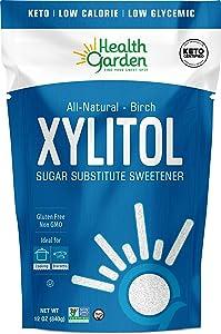 Health Garden Birch Xylitol Sweetener - Non GMO - Kosher - Made in the U.S.A. - Keto Friendly (12 OZ)