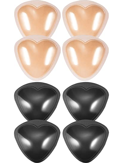 e9bb696acd9d1 Image Unavailable. Image not available for. Color  Hestya 4 Pairs Bra Pads  Self-Adhesive Inserts Removable Push Up Breast Enhancer for Bikini