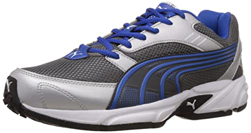 d59213598c421b Puma Men s Pluto DP Silver and Blue Running Shoes - 6 UK India (39 ...