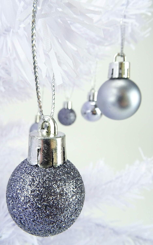 Matt /& Glitter Mini Weihnachtsbaum-Flitter Christmas Concepts/® Packung mit 25 Gl/änzend Black