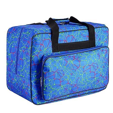 Bolsa de transporte para máquina de coser, funda de almacenamiento acolchada con bolsillos y asas, lona: Amazon.es: Juguetes y juegos