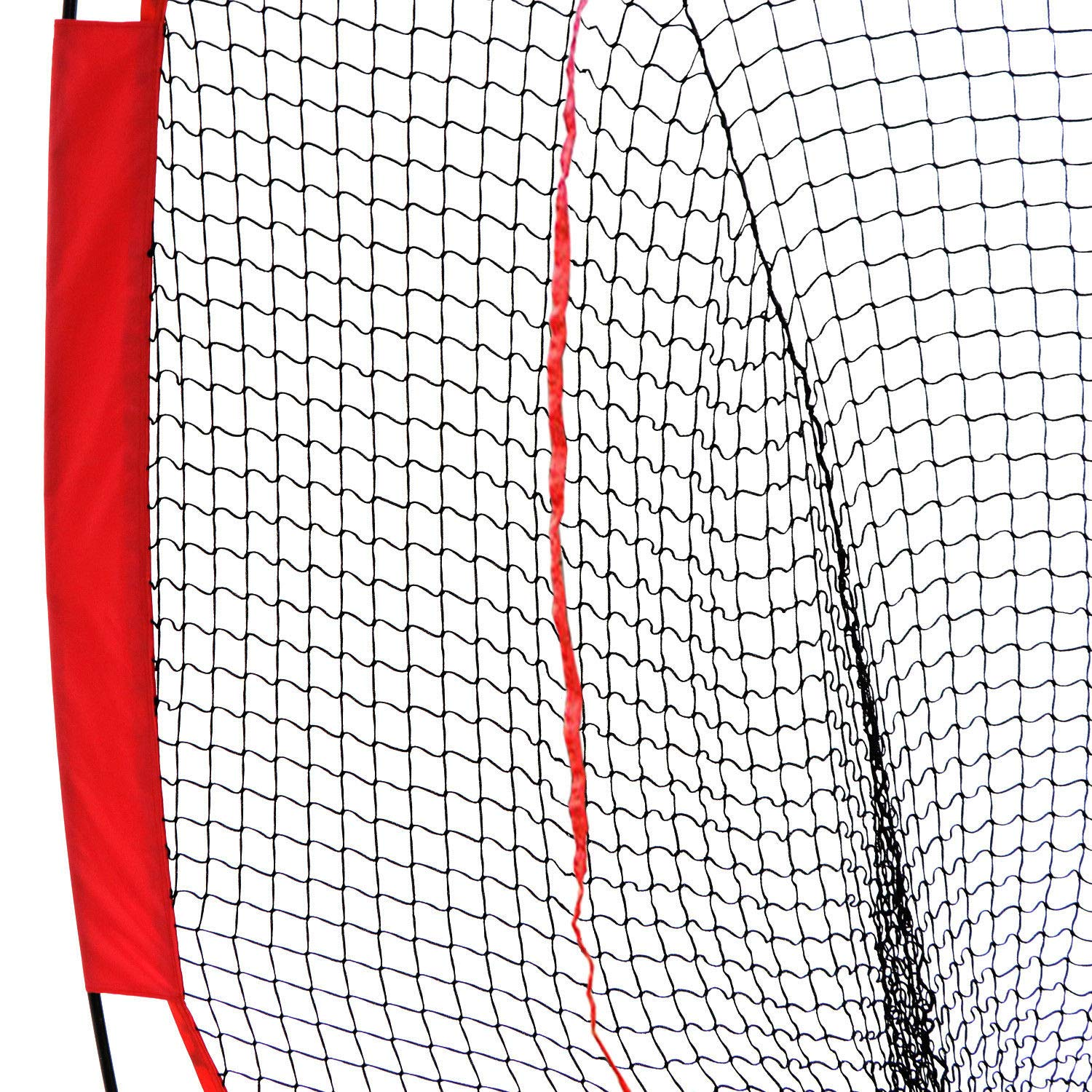 ZENY 7 x 7 5 x 5 Baseball Softball Practice Hitting Pitching Batting Net with Bow Frame,Carry Bag,Great for All Skill Levels Foldable Ball Caddy
