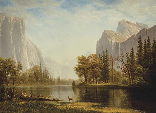 Yosemite Valley by Albert Bierstadt Giclee Fine ArtPrint Reproduction on Canvas