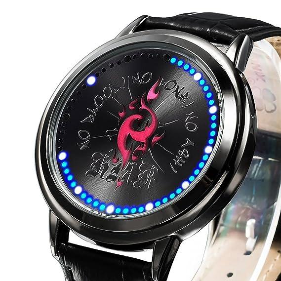 zrdth niños reloj Anime K Proyecto Homra insignia de coleccionista Edición pantalla táctil LED reloj: Amazon.es: Relojes