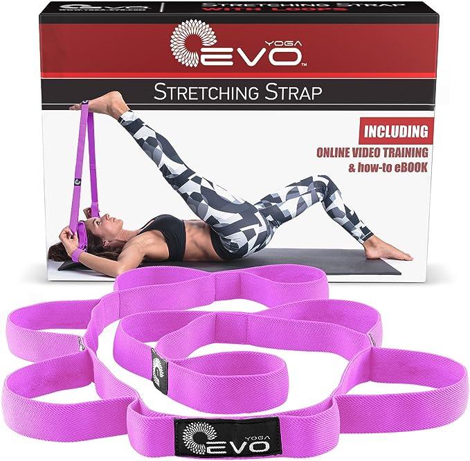 NOVAYARD Yoga Stretching Strap Waist Back Leg Stretch Strap Equipment for Home Fitness,Dance,Ballet