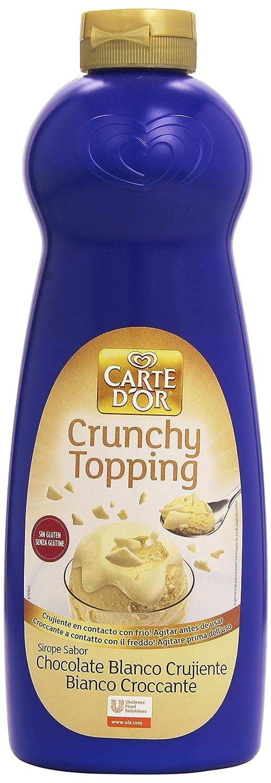 Carte DOr - Crunchy Topping - Sirope sabor chocolate blanco crujiente - 900 ml: Amazon.es: Alimentación y bebidas