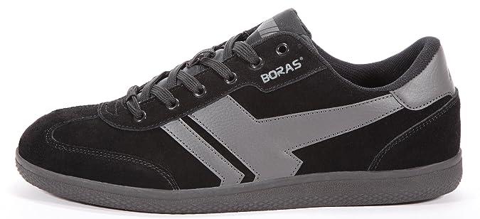 Unisex Retro Sports Sneaker Suede Socca Black/Graphite, Größe Herren:43 EU Boras