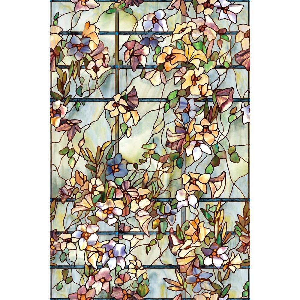 Artscape Trellis Window Film 61 x 92 cm, Vinyl, Green, 91.4 x 61 x 0.02 cm 01-0149