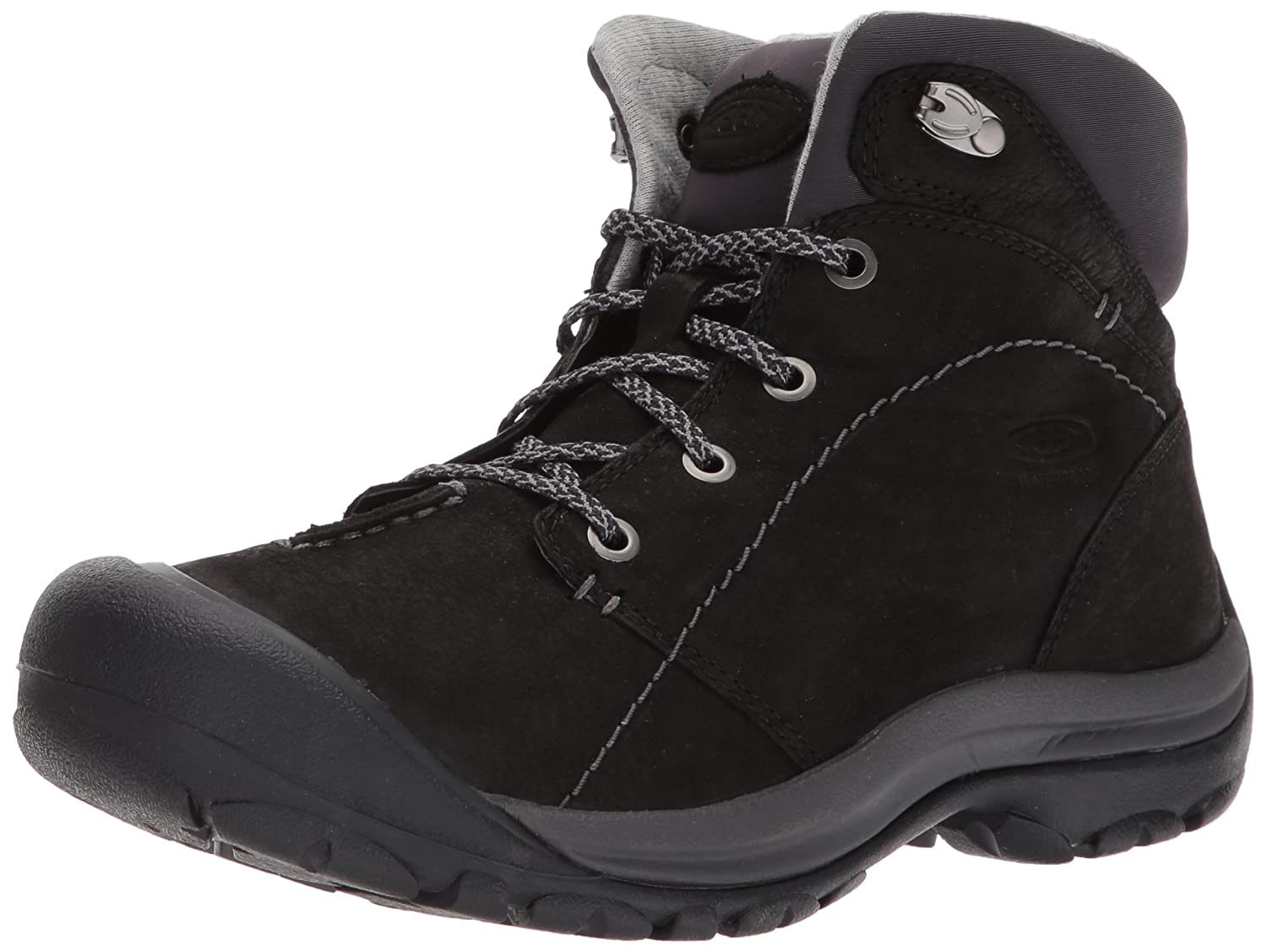 KEEN Women's Kaci Winter Mid Waterproof Hiking Boots, Black/Magnet 1017465