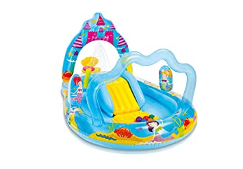 Intex - Centro Juegos Hinchable, 279 x 160 x 140 cm, diseño Mermaid Kingdom (57139NP)