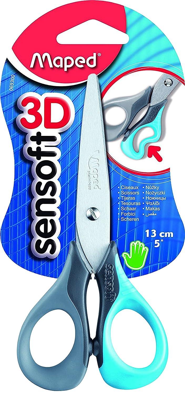 Maped Sensoft - Forbici ergonomici, 13 cm, colori assortiti 069300