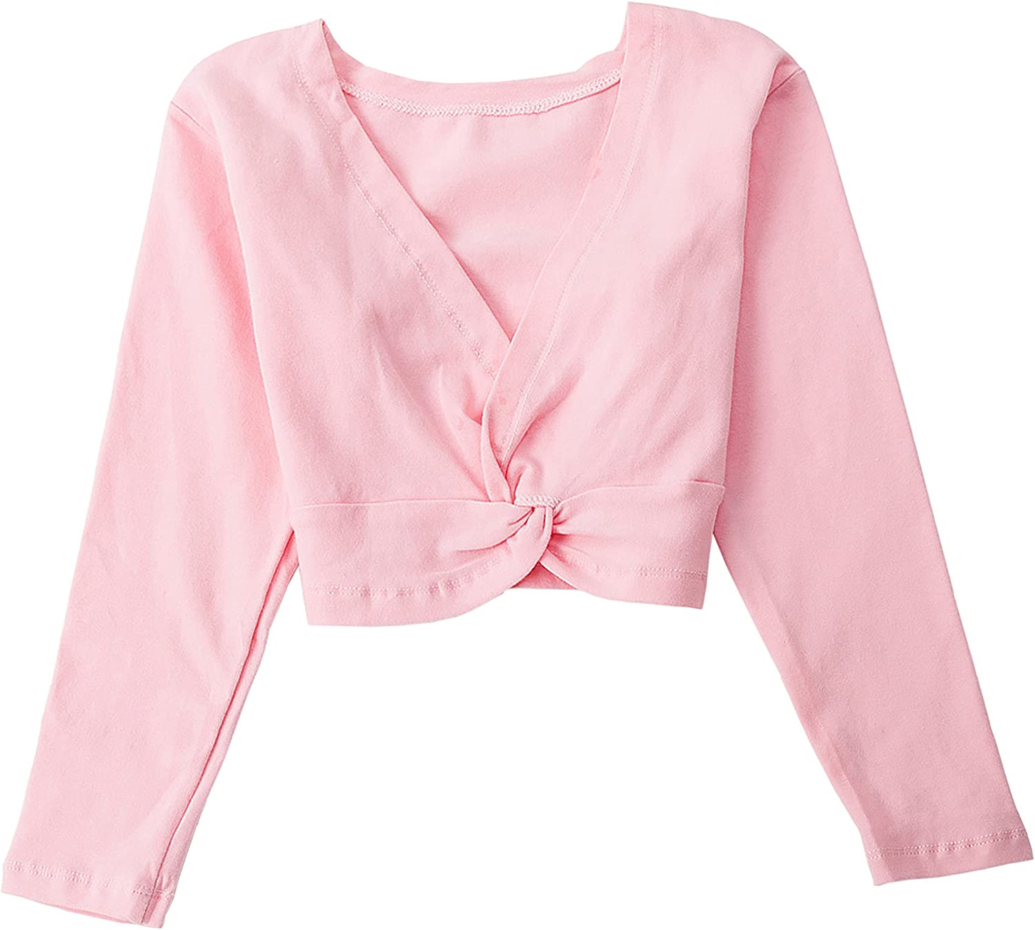s.lemon Dance Ballet Sweaters Cardigans Long Sleeve Wrap Top for Kids Girls
