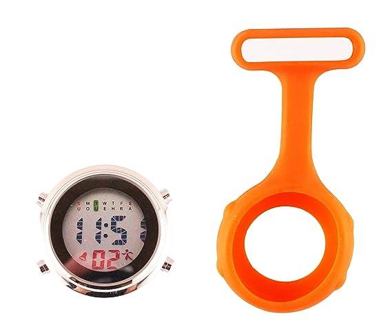 Ellemka - JCM-330 Reloj de enfermera digital para profesionales de la salud, multifuncional, programable, con la broche, CE, RoHS, su batería y funda de ...