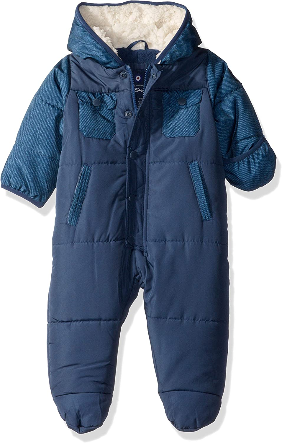 Ben Sherman Baby Jungen Pram More Styles Available Daunenalternative Jacke Marineblau Denim 18 Monate Bekleidung