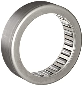 """INA SCH1016 Needle Roller Bearing, Heavy Series, Steel Cage, Open End, Inch, 5/8"""" ID, 7/8"""" OD, 1"""" Width, 17600rpm Maximum Rotational Speed, 6300lbf Static Load Capacity, 4300lbf Dynamic Load Capacity"""