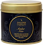 Shearer Candles Amber Noir Large Scented Gold Tin Candle - Black