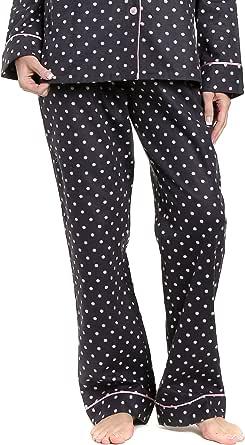 Noble Mount Womens Premium 100% Cotton Flannel Lounge Pants