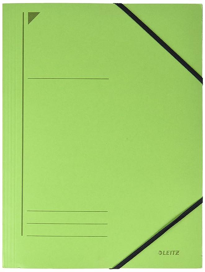 A4 grün Primärkarton Füllhöhe 350 Blatt Leitz 3981 Eckspannermappe