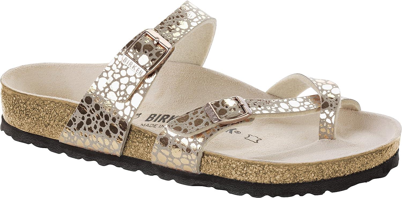6d58787ba Amazon.com | Birkenstock Mayari Birko-Flor Narrow Metallic Stones Copper  Size EU 37 - US L6 M4 | Sandals