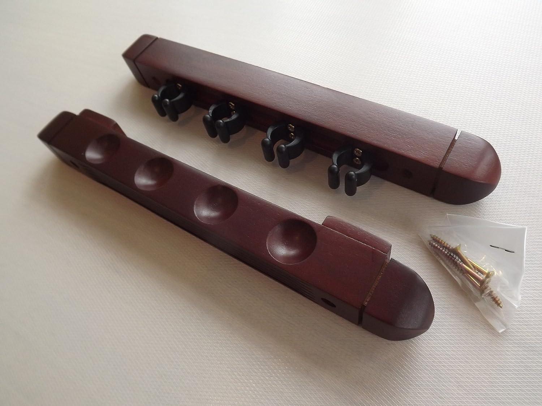 Taquera de pared para tacos de billar madera de caoba