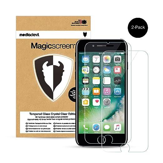 696 opinioni per 2 Pacchi Apple iPhone 7 Pellicola Protettiva in Vetro Temperato, MediaDevil