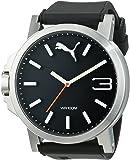 Puma Motorsport Ultrasize Unisex Quartz Watch with Black Dial Analogue Display and Black Plastic or PU Strap