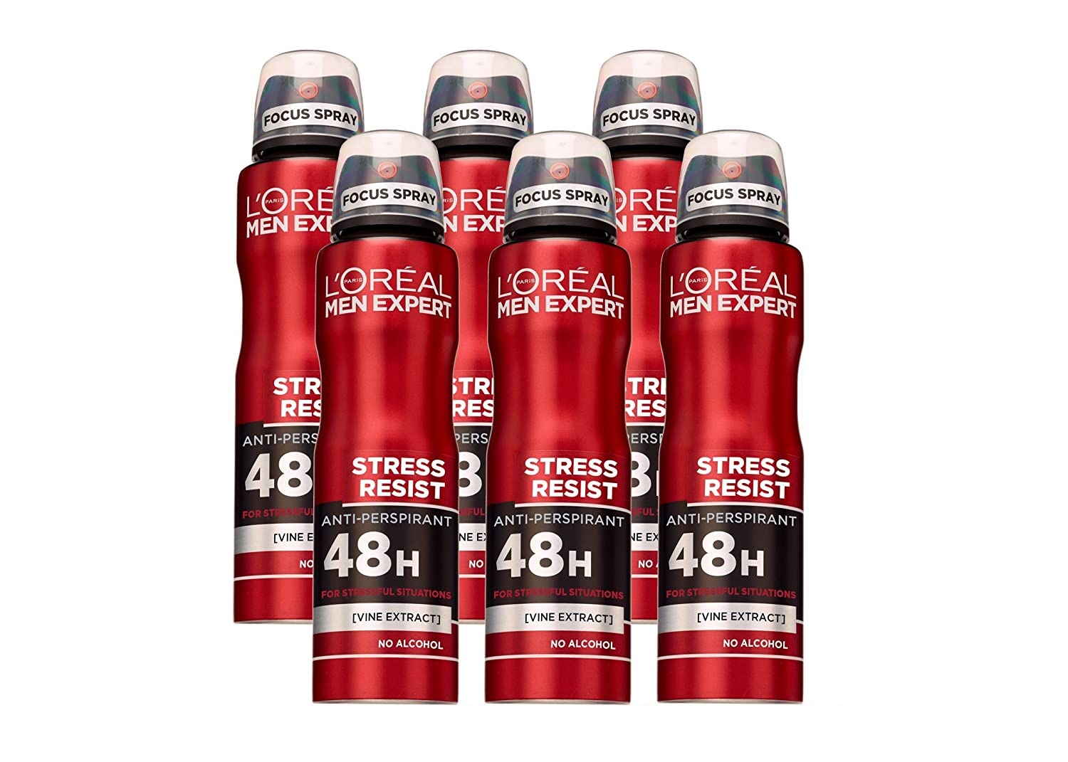 L'Oreal Paris Men Expert Stress Resist Deodorant, 250 ml, Pack of 6 L' Oreal 3600523581955