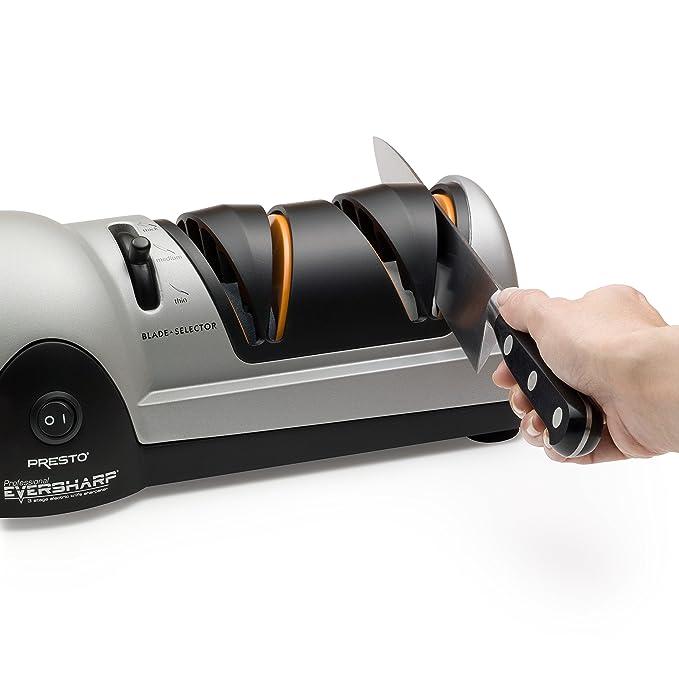 Presto Professional EverSharp - Afilador de cuchillos (De plástico, Negro, Gris): Amazon.es: Hogar
