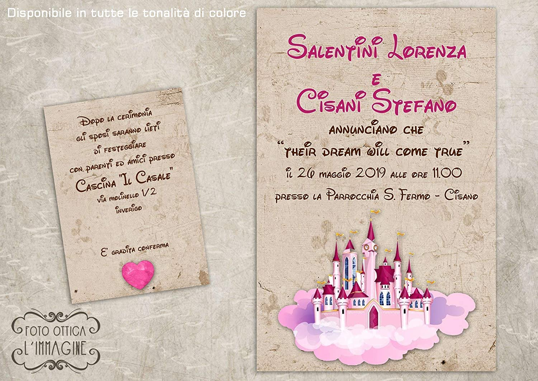 Partecipazioni Matrimonio Disney.Partecipazioni Matrimonio Personalizzate Inviti Nozze Castello