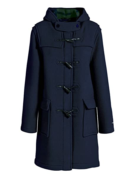 Duffle Coat mujer lana Made in France dalmard Marino Liverpool azul 34