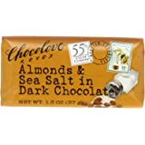Chocolove Chocolate Bar, Almonds & Sea Salt in Dark Chocolate, 1.3 Ounce (Pack of 12)