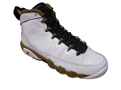 reputable site ab4b6 e629b amazon nike air jordan 9 retro bg white black militia green kids basketball  fc5f2 b73ee