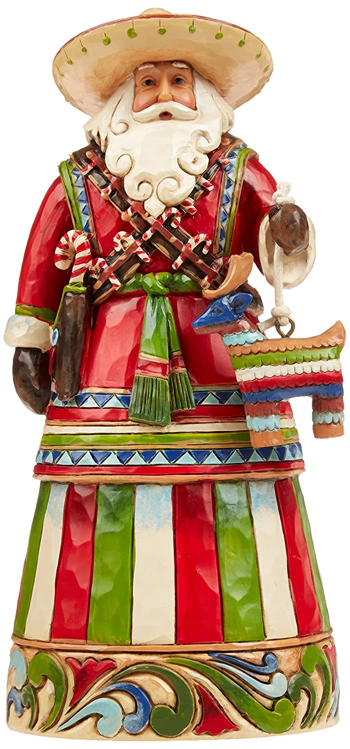 Jim Shore Heartwood Creek Mexican Santa Stone Resin Figurine, 7.25""