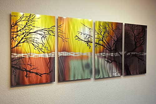 Miles Shay Metal Wall Art, Modern Home Decor, Abstract Wall Sculpture- Tree in Silhouette