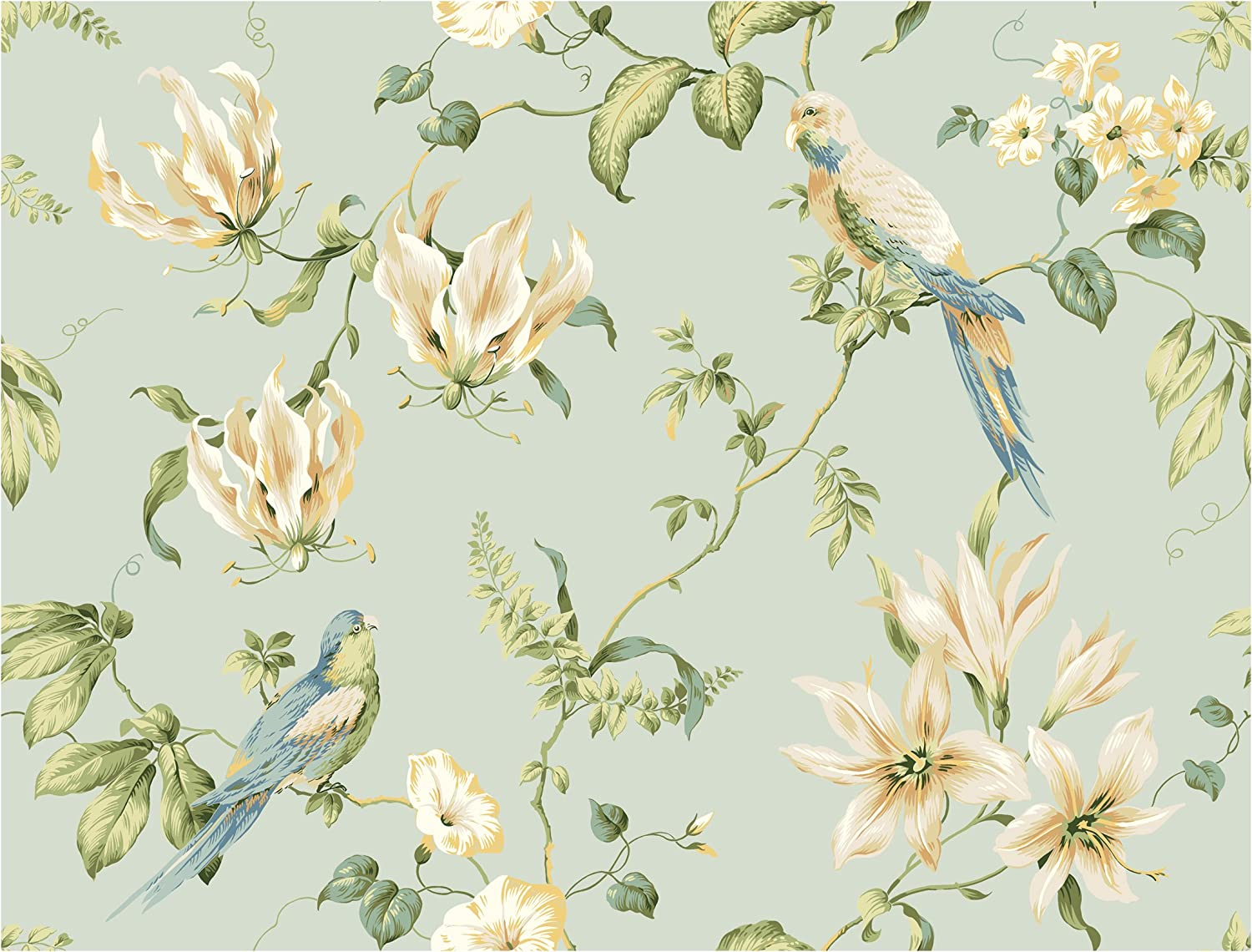 York Wallcoverings Casabella Tropical Floral Removable Wallpaper